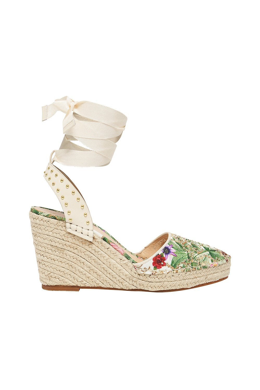 ESPADRILLE WEDGE W GROSGRAIN TIE FAIR VERONA