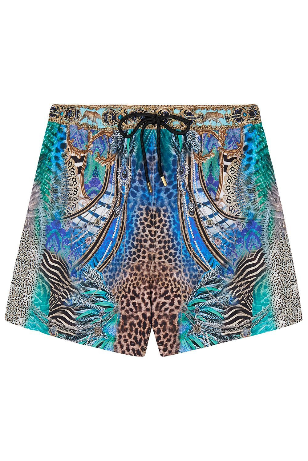 ELASTIC WAIST BOARDSHORT ANIMAL ARMY