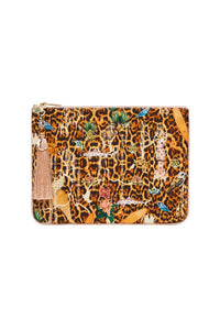 SMALL CANVAS CLUTCH FAUNA ELECTRO