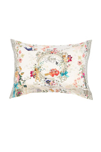 PILLOW CASE AND EYE MASK JARDIN POSTCARDS