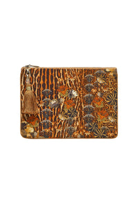 SMALL CANVAS CLUTCH WILD AZAL