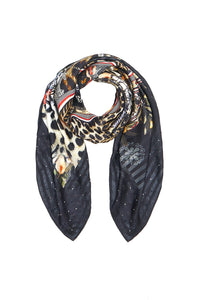 LARGE SQUARE SCARF MARAIS AT MIDNIGHT