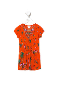 KIDS DRAWSTRING DRESS PARADISE CIRCUS