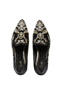 POINT TOE BABOUCHE BLACK CONTEMPORARY
