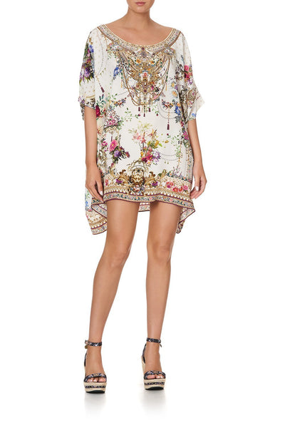 SHORT ROUND NECK KAFTAN BY THE MEADOW
