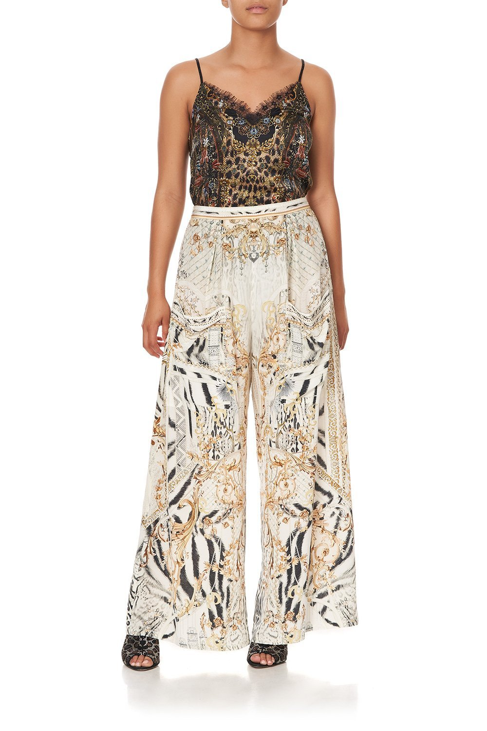 WIDE LEG TROUSER WITH FRONT POCKETS GATES OF GLORY