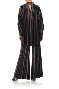 KNITTED KAFTAN WITH NECKBAND SWINGING SIXTIES