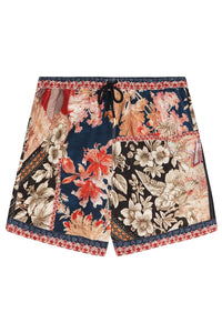 ELASTIC WAIST BOARDSHORT MEADOW HE WROTE