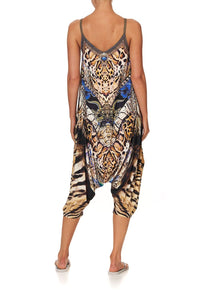 DROP CROTCH THIN STRAP JUMPSUIT DRAGON LADY