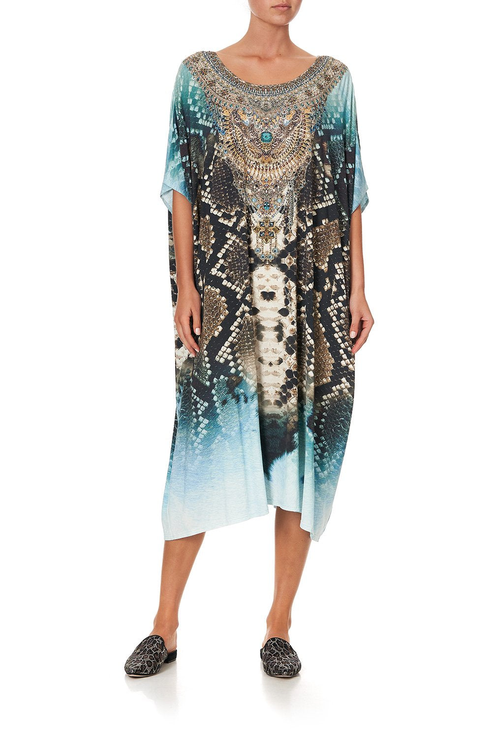 ROUND NECK LOUNGE KAFTAN PREY
