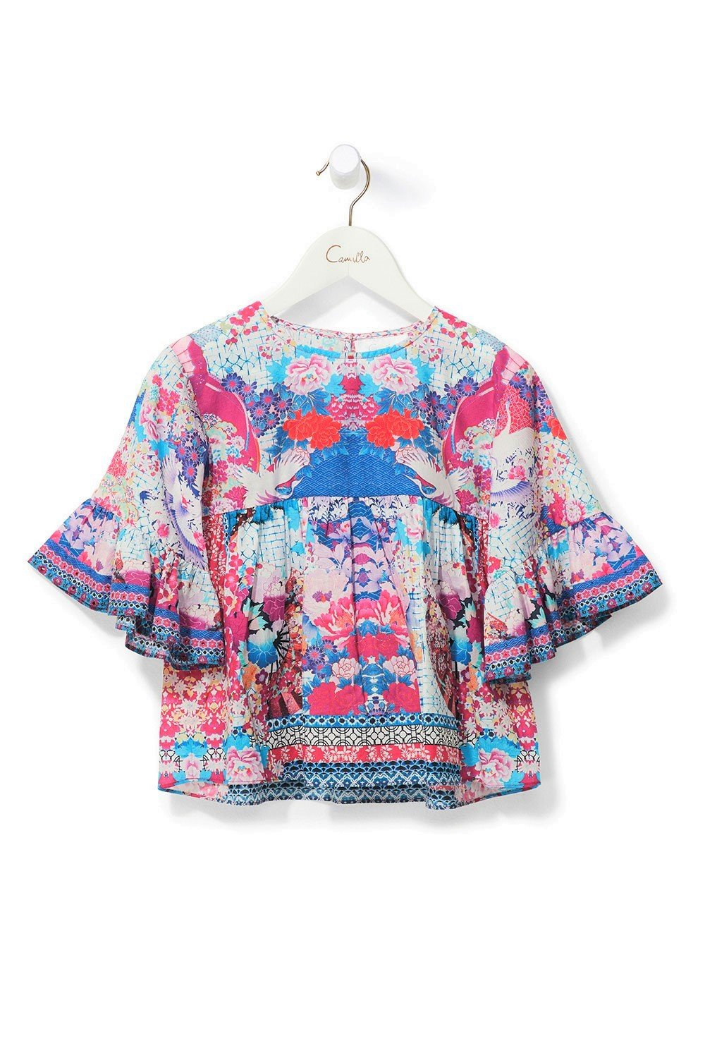 KID'S BELL SLEEVE TOP SKY OF VENUS