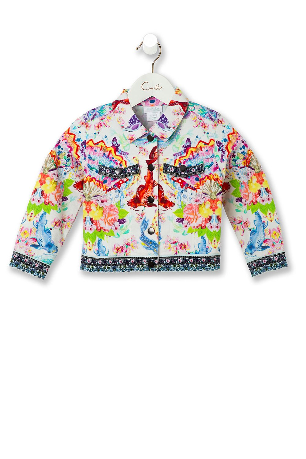 KIDS' DENIM JACKET DRAGON DIVINITY