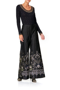 JACQUARD PANT WITH FRONT SEAMS REBELLE REBELLE