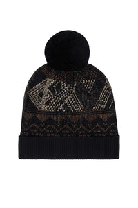 KNIT BEANIE WITH POM POM FLIGHT OF AMUN-RA