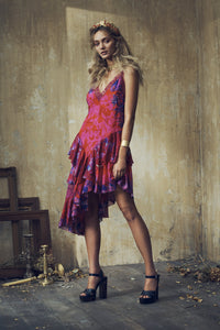 LAYERED ASYMMETRICAL DRESS TROPIC OF NEON