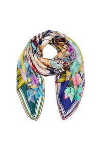 PRINTED SILK SCARF LIFE OF WILD