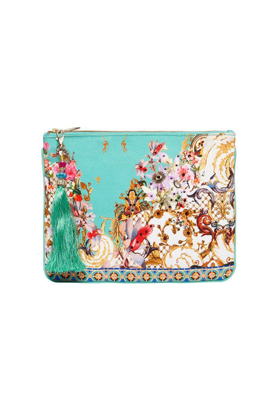 SMALL CANVAS CLUTCH FLORAISON