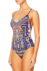 EMBROIDERED V-NECK ONE PIECE WHERE YOU'LL FIND ME