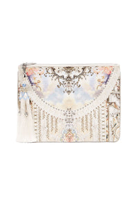 SMALL CANVAS CLUTCH CRYSTAL CASTLE