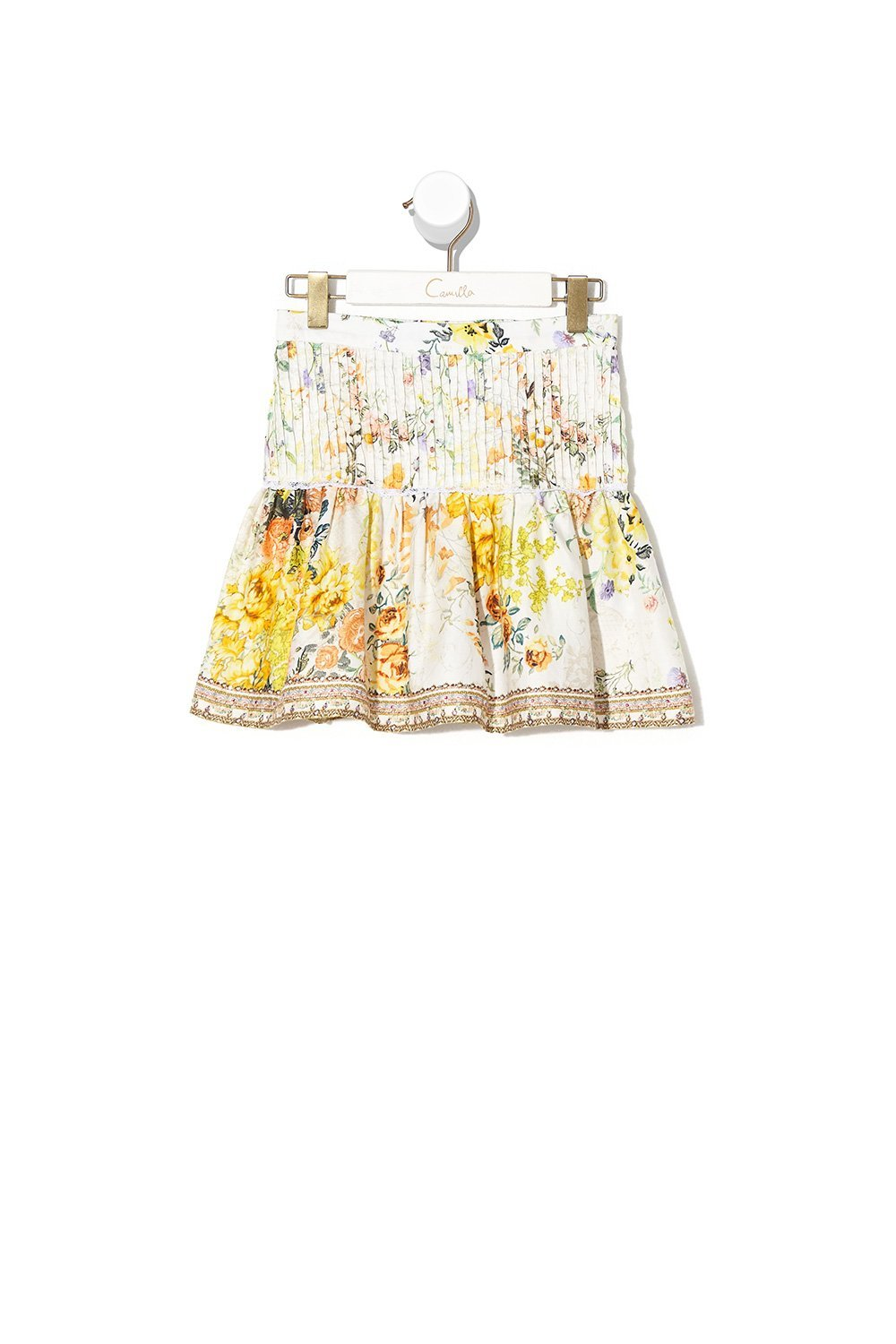 KIDS SKIRT WITH PINTUCKING IN THE HILLS OF TUSCANY