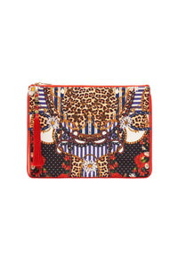 SMALL CANVAS CLUTCH DEAR BRIGITTE