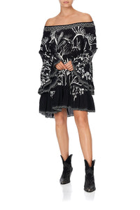 A-LINE FRILL DRESS BOTANICAL BANDITS