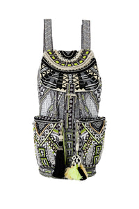 BELIEVE WEAVE EMBELLISHED BACKPACK