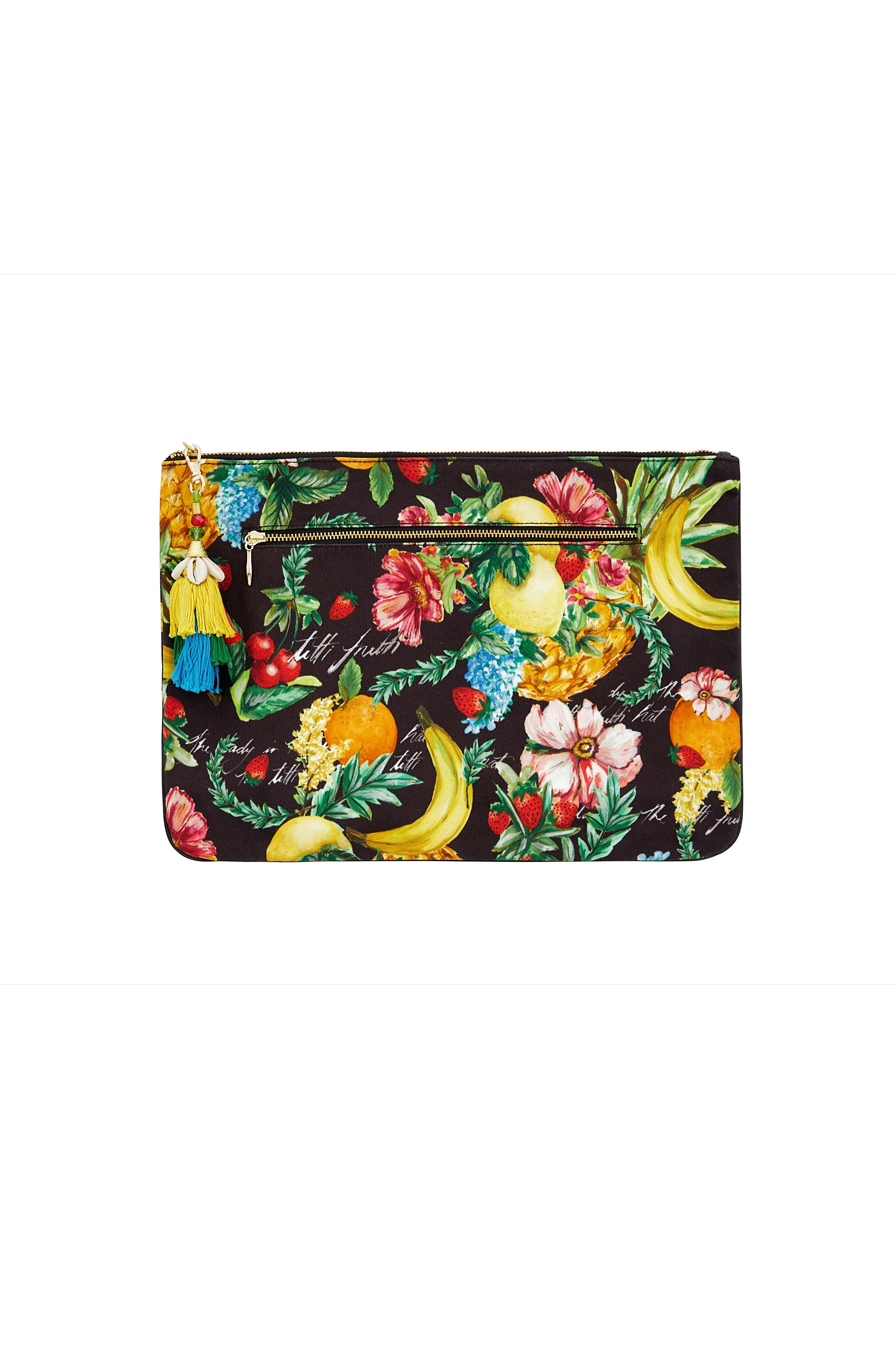 CALL ME CARMEN LARGE CANVAS CLUTCH
