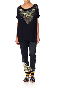 CAMILLA MIDNIGHT MOONCHILD LOOSE FIT TEE