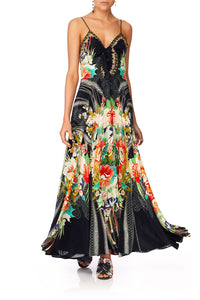CAMILLA QUEEN OF KINGS LONG DRESS W TIE FRONT