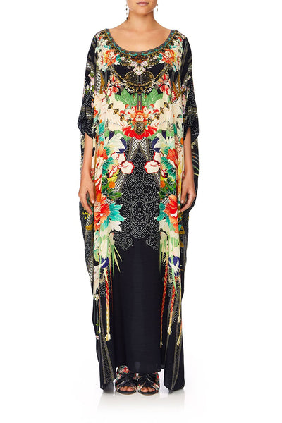 CAMILLA QUEEN OF KINGS ROUND NECK KAFTAN