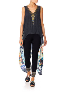 CAMILLA MIDNIGHT MOONCHILD LEGGINGS W CONTRAST CUFF AND ZIP