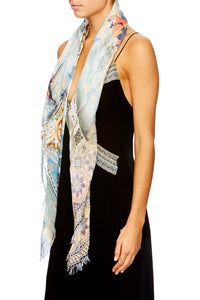 LOVERS DREAM SHEER SCARF W RAW EDGE