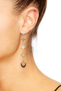 SILVER PLATED CHAIN DROP EARRINGS