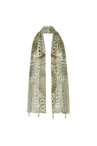 ANIMAL INSTINCT GOLD LONG SCARF