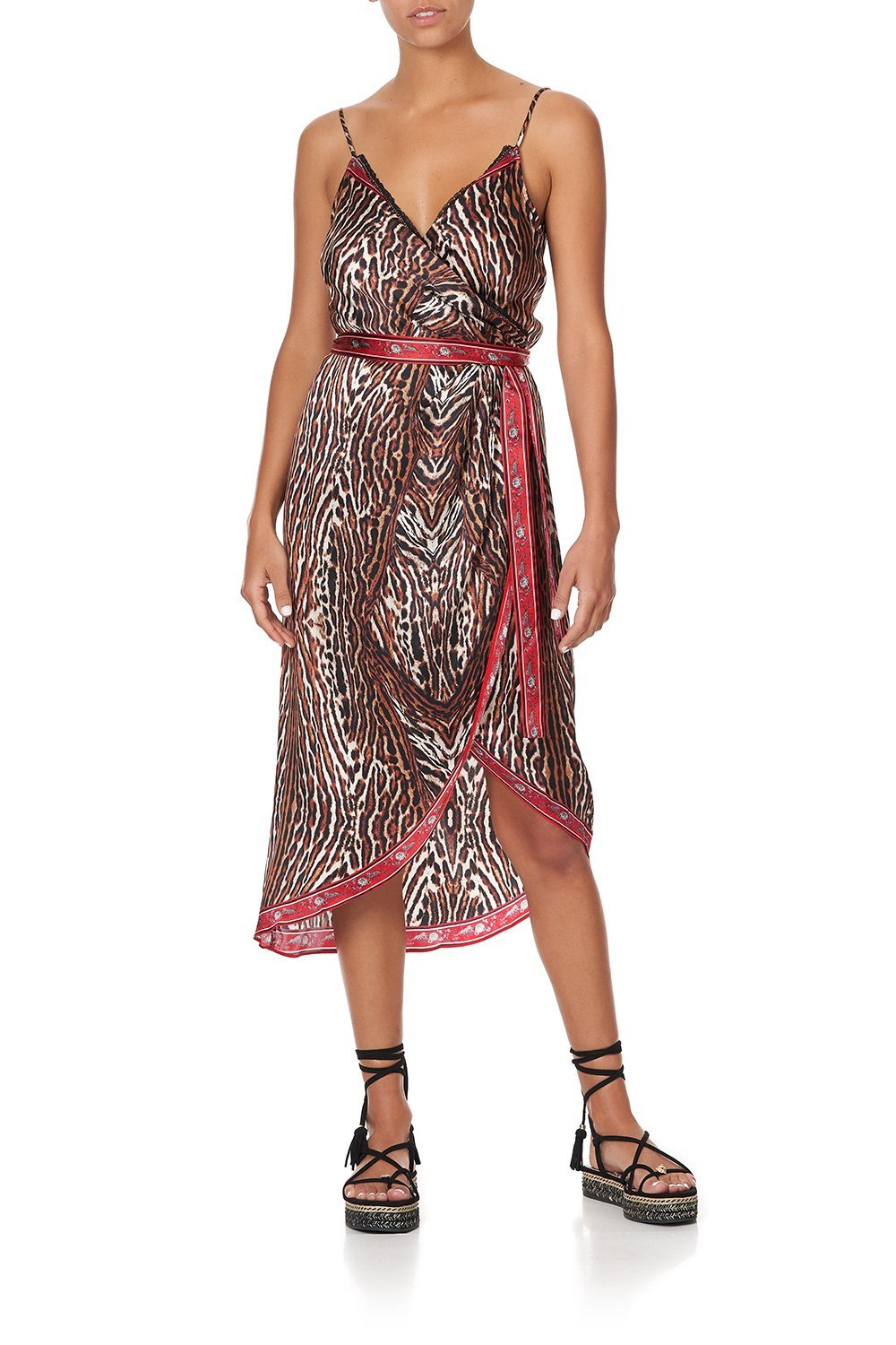 ASYMMETRICAL WRAP DRESS WITH STRAPS PIRATE PUNK