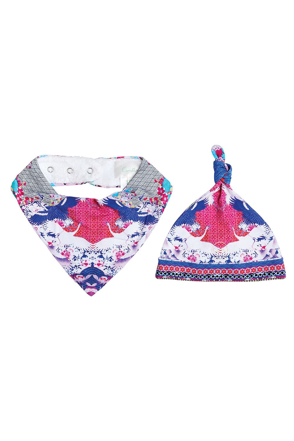 MILLA SKY OF VENUS BABIES BIB AND BEANIE SET