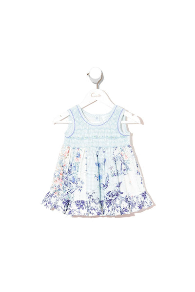 BABIES DRESS WITH SHIRRING PETIT DREAMER