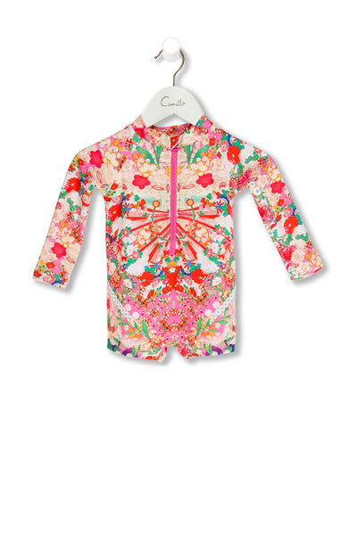 BABIES LONG SLEEVE ONE PIECE KIMONO KISSES