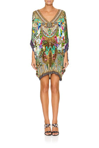 CAMILLA BAT SLEEVE DRESS CHAMPAGNE COAST