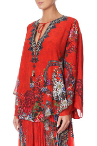 BLOUSE WITH DOUBLE SLEEVE WONDERING WARATAH