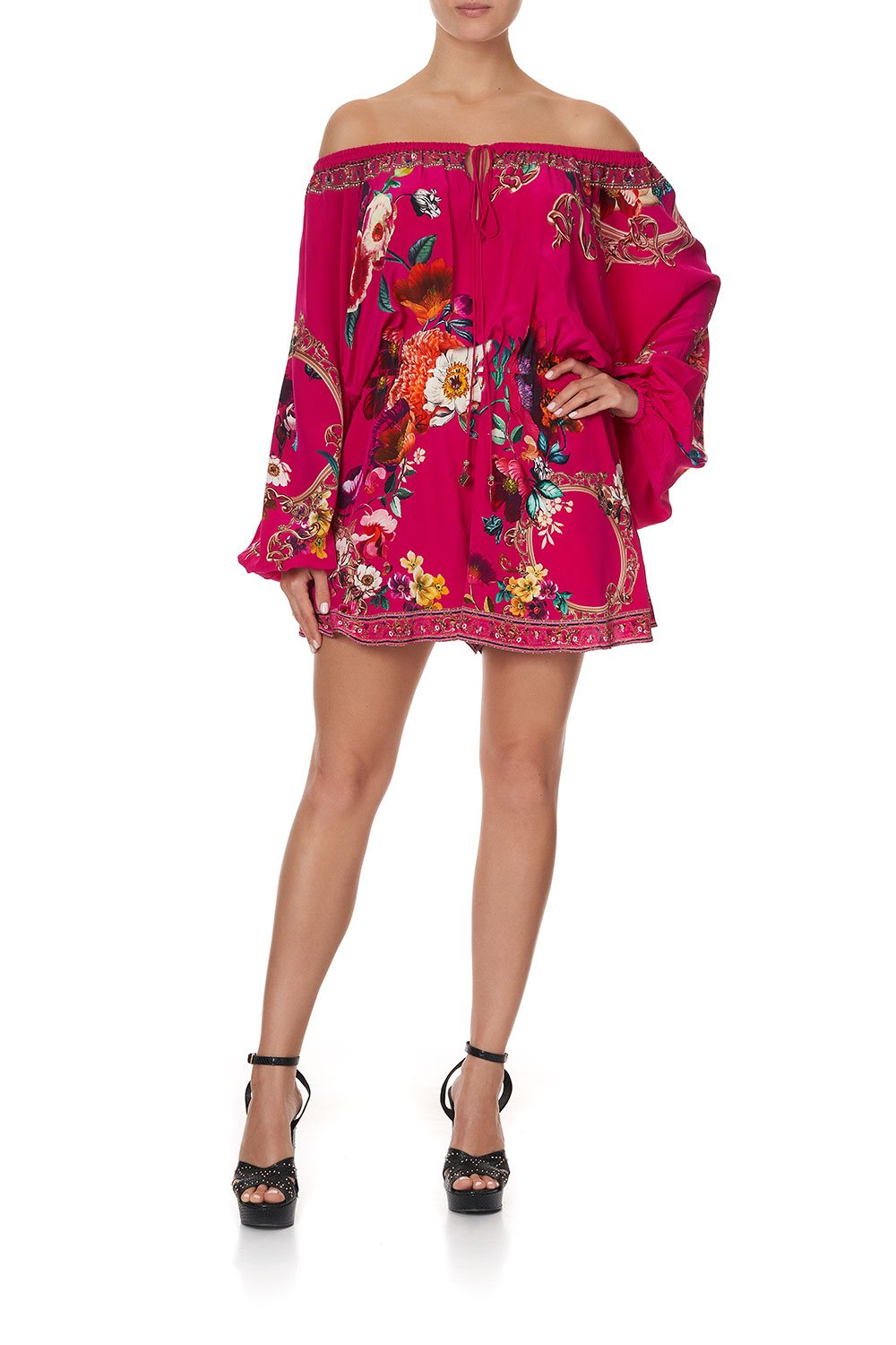 BLOUSON SLEEVE PLAYSUIT APPLE EYED