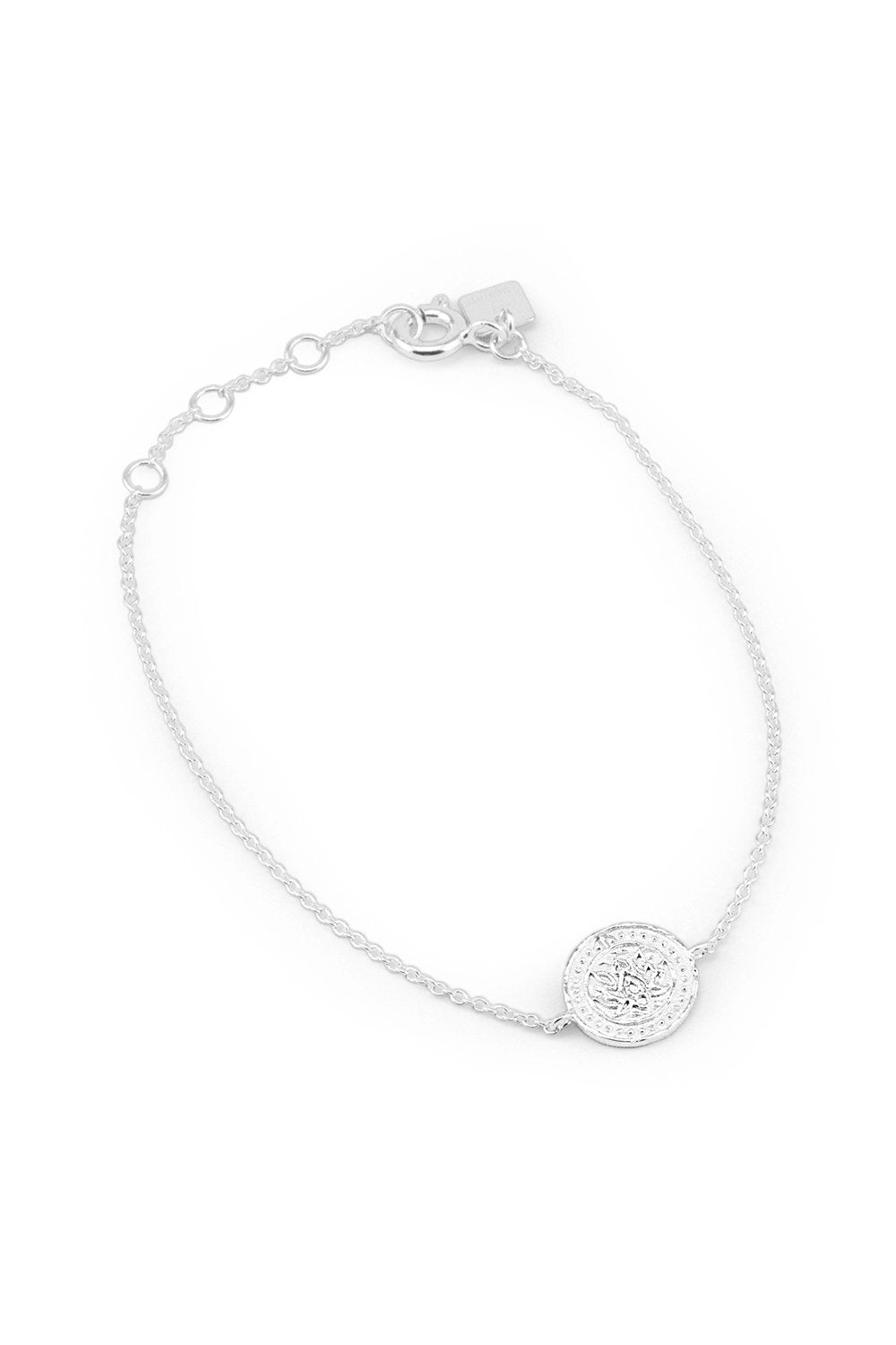 BY CHARLOTTE LOTUS BRACELET SILVER PLATED