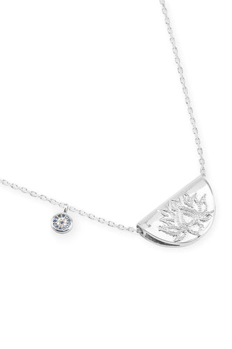 BY CHARLOTTE LOTUS LONG NECKLACE SILVER PLATED