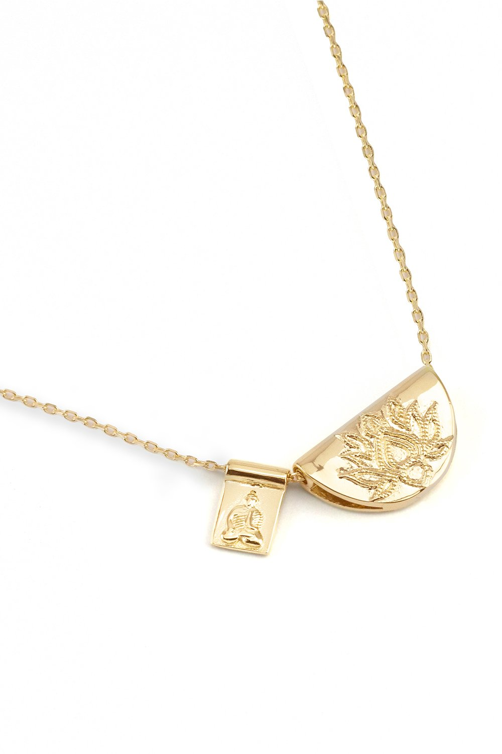 BY CHARLOTTE LOTUS SHORT NECKLACE GOLD