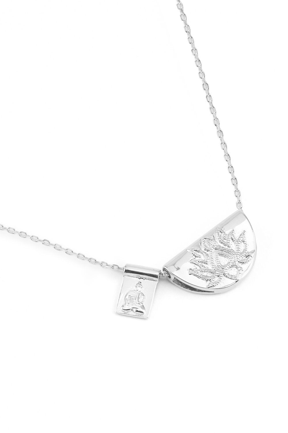 BY CHARLOTTE LOTUS SHORT NECKLACE SILVER PLATED