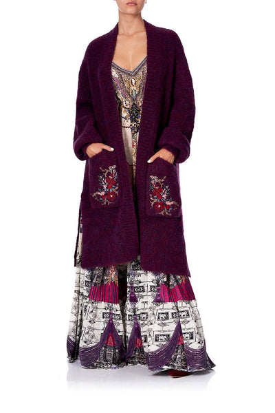 COCOON KNIT CARDIGAN VIOLET CITY
