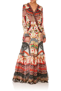 CAMILLA VINTAGE VIXEN CROSS FRONT MAXI DRESS