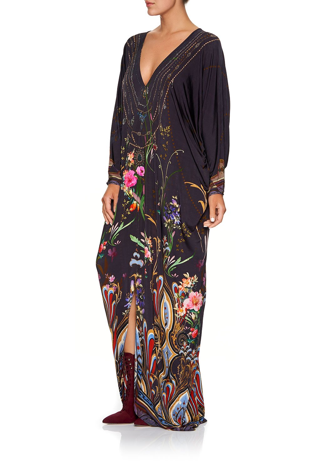 CAMILLA DOLMAN SLEEVE JERSEY DRESS WILD FLOWER