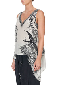 DRAPED SIDE TOP SILVER LININGS